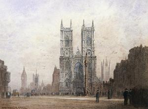 Westminster Abbey, London by Fred E.J. Goff