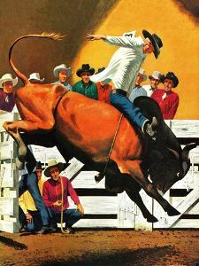 """""""Bull Riding,"""" July 21, 1945 by Fred Ludekens"""