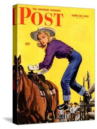 """""""Woman at Dude Rance,"""" Saturday Evening Post Cover, June 20, 1942"""