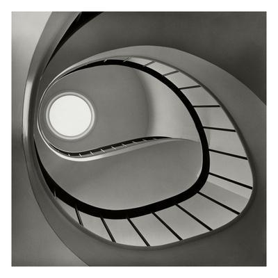 Vogue - April 1952 - Spiral Staircase