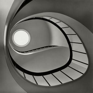 Vogue - April 1952 - Spiral Staircase by Fred Lyon