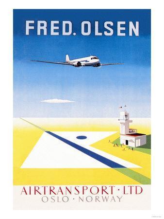 Fred. Olsen Air Transport Ltd. Oslo--Art Print