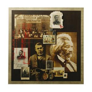 A Collage Features Portraits of Famous African Americans by Fred Otnes