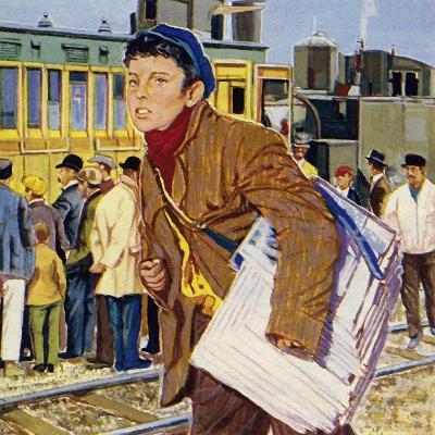 Fred Royce Sold Newspapers at the Age of Nine--Giclee Print