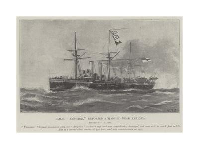 HMS Amphion, Reported Stranded Near Antigua