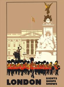 London - by London & North Eastern Railway (LNER) - Guards, Buckingham Palace by Fred Taylor