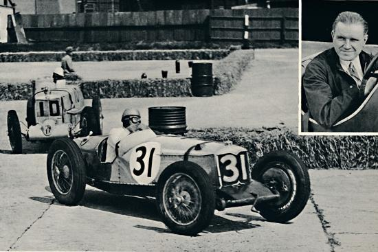 'Freddie Dixon (Riley) at Brooklands', 1937-Unknown-Photographic Print
