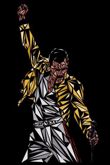 Freddie Mercury-Cristian Mielu-Premium Giclee Print