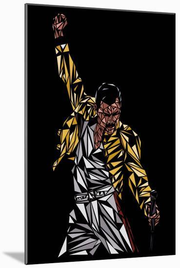 Freddie Mercury-Cristian Mielu-Mounted Art Print