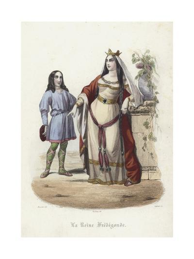 Fredegund, Queen Consort of Chilperic I, Frankish King of Neustria--Giclee Print