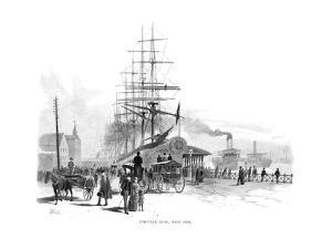 Circular Quay, West Side, Sydney, New South Wales, Australia, 1886 by Frederic B Schell