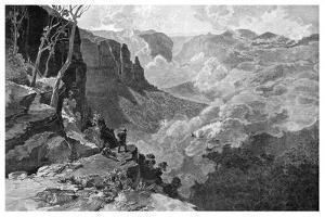 Govett's Leap, Blue Mountains, New South Wales, Australia, 1886 by Frederic B Schell