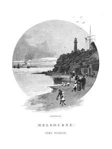 Queenscliff, Port Phillip, Victoria, Australia, 1886 by Frederic B Schell