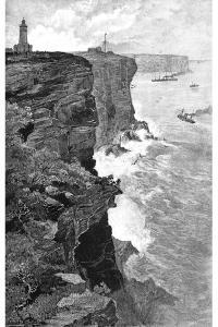 Sydney Heads from the South, New South Wales, Australia, 1886 by Frederic B Schell
