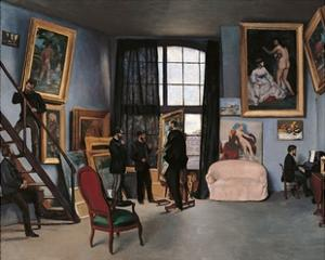 Artists Studio, Rue de la Condamine by Frederic Bazille