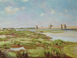 The City Walls of Aigues-Mortes, 1867 by Frederic Bazille