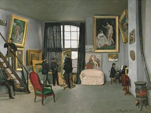 The Painter's Atelier in the Rue de la Condamine, c.1870 by Frederic Bazille