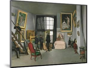 The Painter's Atelier in the Rue de la Condamine, c.1870 by Frederic Bazille