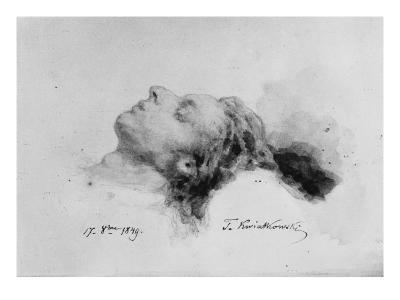 Frederic Chopin on His Deathbed, 17th October 1849-Antar Teofil Kwiatowski-Giclee Print