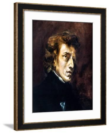 Frederic Chopin-Eugene Delacroix-Framed Giclee Print