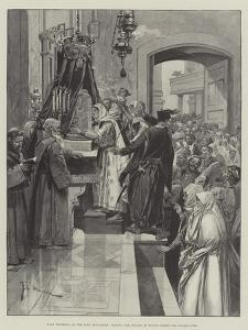 Holy Thursday at the Holy Sepulchre, Kissing the Column at Which Christ Was Flagellated by Frederic De Haenen