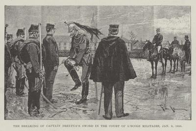 The Breaking of Captain Dreyfus's Sword in the Court of L'Ecole Militaire, 5 January 1895