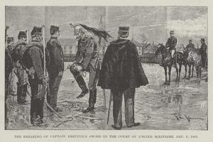 The Breaking of Captain Dreyfus's Sword in the Court of L'Ecole Militaire, 5 January 1895 by Frederic De Haenen