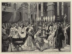 The Ceremony at the Stone of Unction, Anointing the Effigy of Our Lord by Frederic De Haenen