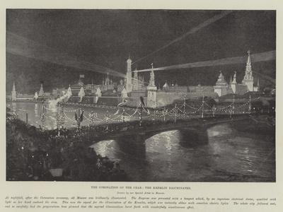 The Coronation of the Czar, the Kremlin Illuminated