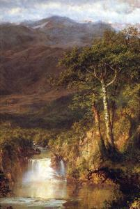 Heart of the Andes Detail by Frederic Edwin Church