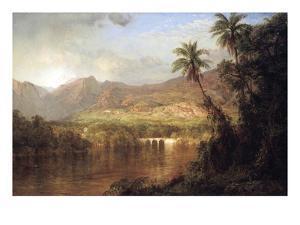 Tropical Scene by Frederic Edwin Church
