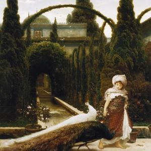 Maurischer Garten; ein Traum von Granada. Moorish Garden; a Dream of Granada by Frederic Leighton