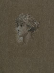 Study for 'Head of a Girl', C.1893 by Frederic Leighton