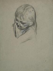 Study of a Female Child, 1850-60 by Frederic Leighton