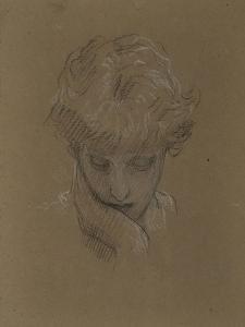 Study of a Female Head, Probably Dorothy Dene, 1879-96 by Frederic Leighton