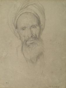 Study of a Male Head, Luxor, 1868 by Frederic Leighton