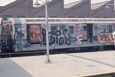 7Th Ave. Subway Train Covered in Graffiti