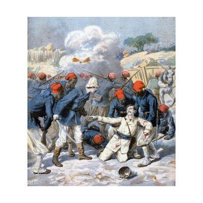 Death of Lieutenant Lecerf, Battle of Napa, Nigeria, 1894