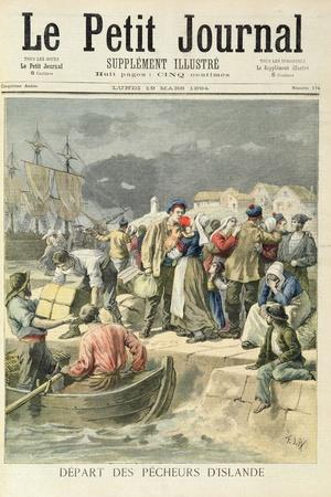 Departure of the Icelandic Fishermen from 'Le Petit Journal', 19th March 1894