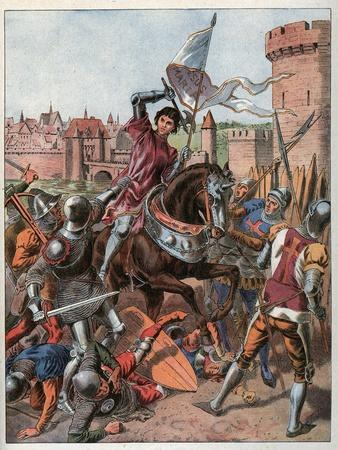 Joan of Arc is taken prisoner on May 23rd 1430 and is handed over to the English at Compiegne