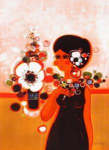 Femme au Bouquet by Frédéric Menguy