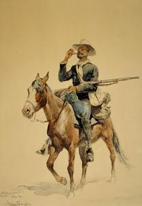 A Mounted Infantryman, 1890 by Frederic Remington
