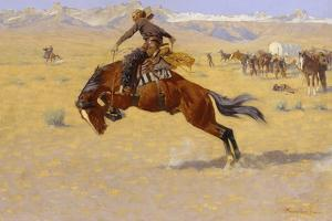 A Cold Morning on the Range, c.1904 by Frederic Sackrider Remington