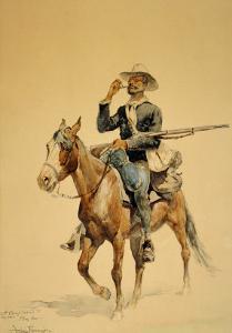 A Mounted Infantryman, 1890 by Frederic Sackrider Remington