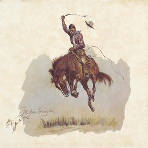 A Running Bucker by Frederic Sackrider Remington
