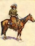 A Cold Morning on the Range-Frederic Sackrider Remington-Mounted Premium Giclee Print