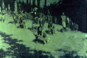 Apache Scouts Listening, 1908 by Frederic Sackrider Remington