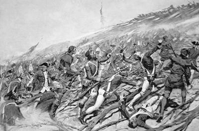 British Forces Attempt to Storm the French Fort of Ticonderoga in 1758 (Litho) by Frederic Sackrider Remington