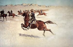 Buffalo Soldiers in Pursuit by Frederic Sackrider Remington