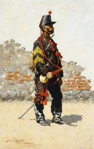 Bugler of the Cavalry by Frederic Sackrider Remington